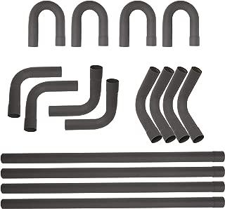 "ECOTRIC Universal 2.25""Mild Steel Exhaust Tubing Mandrel Bend Pipe Straight & U-Bend 90 Degree Kit"