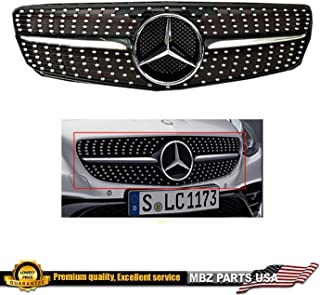 Mercedes-Benz W204 C-Class Black-Chrome diamond grille 2008 209 2010 2011 2012 2013 2014 C200 C250 C300 C350 coupe/sedan with OEM star emblem glossy. #245