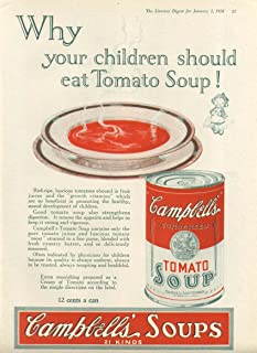 Why Children Should Eat Campbell's Tomato Soup ad 1926
