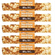 Earth Animal No Hide Rawhide Chicken Dog Chews, Dog Treats. 7 Inch 5 Pack. The Safe Alternative to Rawhide
