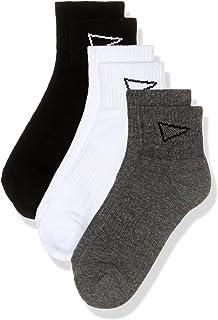 SQDAthletica Men SQD Ankle Sock 3-pack, Multicoloured, AU 8-12