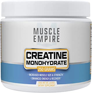 Creatine Monohydrate Micronized Powder - Muscle Building & Recovery Support - 250 Grams - Muscle Empire