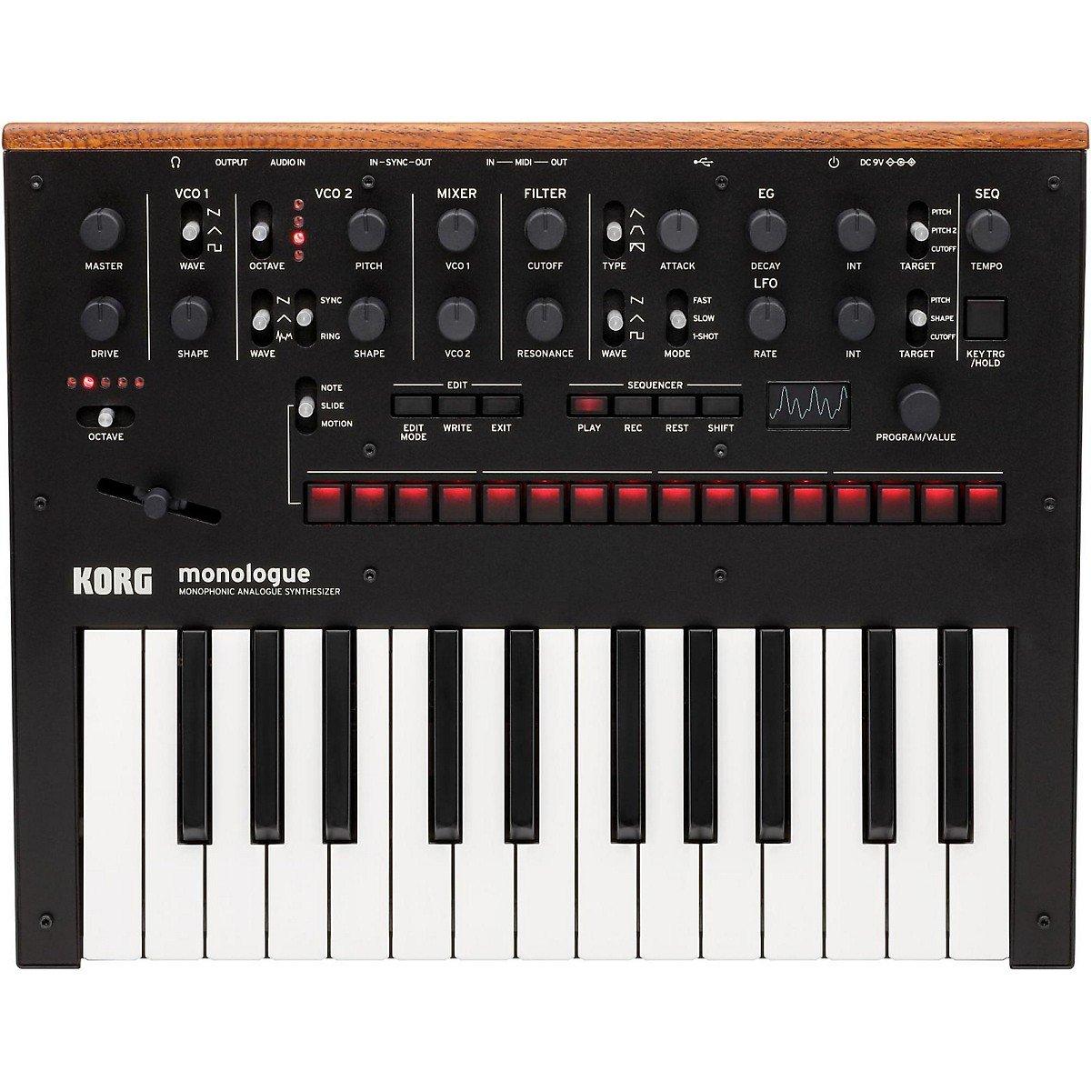 Korg Monophonic Synthesizer Presets Black MONOLOGUEBK
