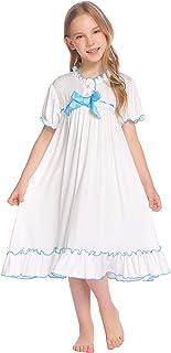 فستان بناتي من Greatchy فستان طويل صيفي قصير الأكمام كاجوال فستان من القطن للحفلات بطراز عتيق للأميرة متأرجحة الطبقات