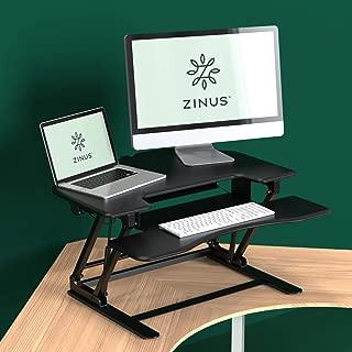 Zinus Betsy Smart Adjust Corner Standing Double Desk 36 Inch