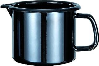GSW 255141Profesional de Black de Star Leche Olla esmaltada, Negro, 14cm