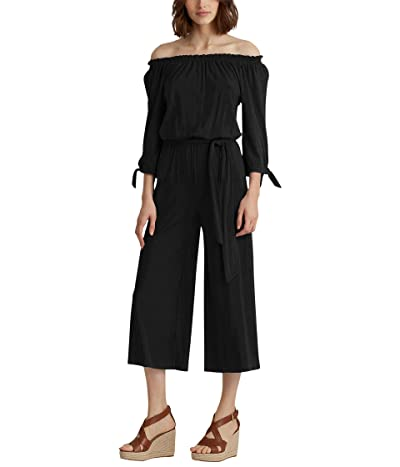 LAUREN Ralph Lauren Off-the-Shoulder Jumpsuit (Polo Black) Women