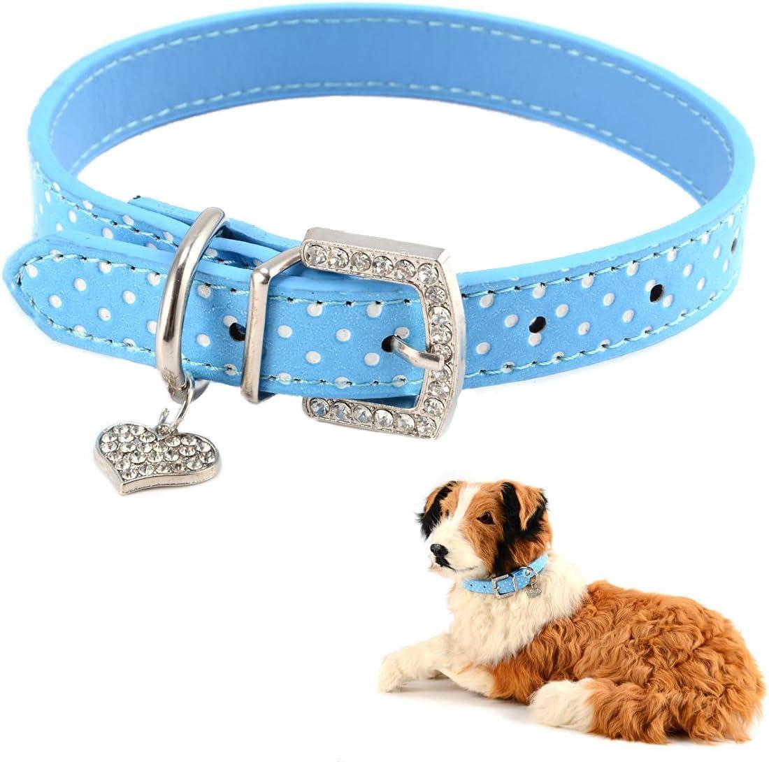 Mummumi Small Dog Collar Cat Leather Adjustable PU Dots 40% OFF Cheap Sale Ranking TOP18