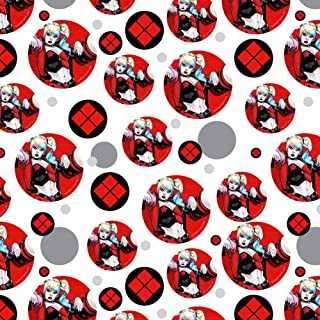 GRAPHICS & MORE Harley Quinn Character Premium Gift Wrap Wrapping Paper Roll