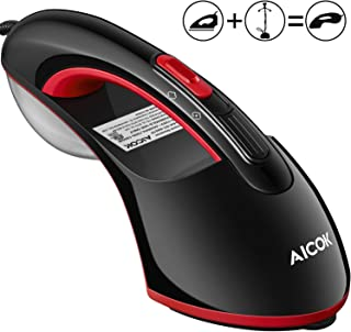 Steamer Iron, AICOK 1200W 15S Fast Preheat Iron, Flat Ironing & Hand-held Steamer, Wrinkle Remover, Clean and Sterilize fo...