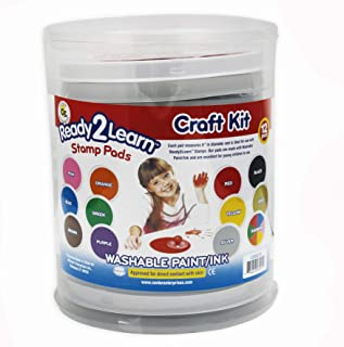 Center Enterprises Inc. Ready2Learn Circular Jumbo Washable Stamp Pad, Craft Kit, 12 Colors