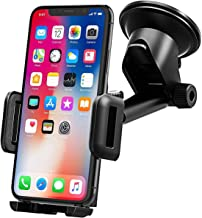 Mpow Car Phone Holder, Dashboard Windscreen Car Phone Mount, Universal Car Cradle with One Button Release&Strong Sticky Gel Pad for iPhone 11 Pro Max 11 Pro XS Max XS Xr X 8 7 Plus, Galaxy, HTC, etc