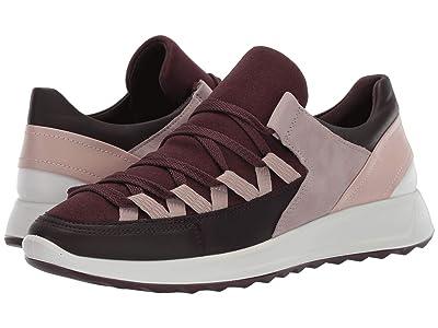 ECCO Flexure Runner II Trend Sneaker (Fig/Fig/Black/Grey Rose/Rose Dust/White) Women