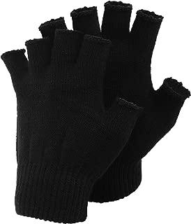 Mens Plain Fingerless Magic Winter Gloves