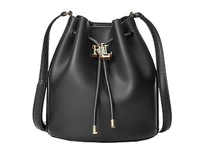 LAUREN Ralph Lauren Super Smooth Leather Andie 19 Drawstring Medium