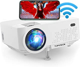 """Wi-Fi Projector, TOPVISION 5500L Mini Projector with Synchronize Smart Phone Screen, Full HD 1080P Projector and 240"""" Disp..."""
