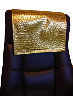 luvfabrics 14x30 inch Gold Crocodile Embossed Faux Leather Vinyl Sofa, Computer Chair, Couch, Furniture, Love seat, Leather Damage Recliner Protector