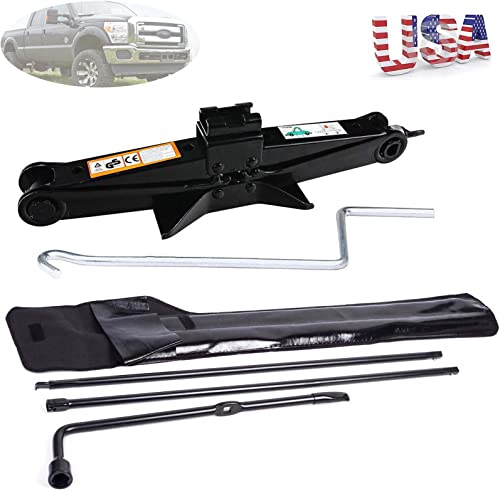 new arrival Spare outlet sale Tire Tool Kit Lug sale Wrench Set Extension for Ford 2003-07 F250 F350 F450 F550 SuperDuty & 2T Scissor Lift Jack online sale