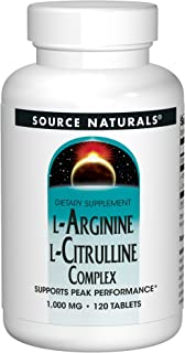 Source Naturals L-Arginine L-Citrulline Complex, 120 Tablets, 1000 mg