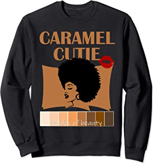 Caramel Cutie Natural Fro Shades of Black Color Palette Sweatshirt
