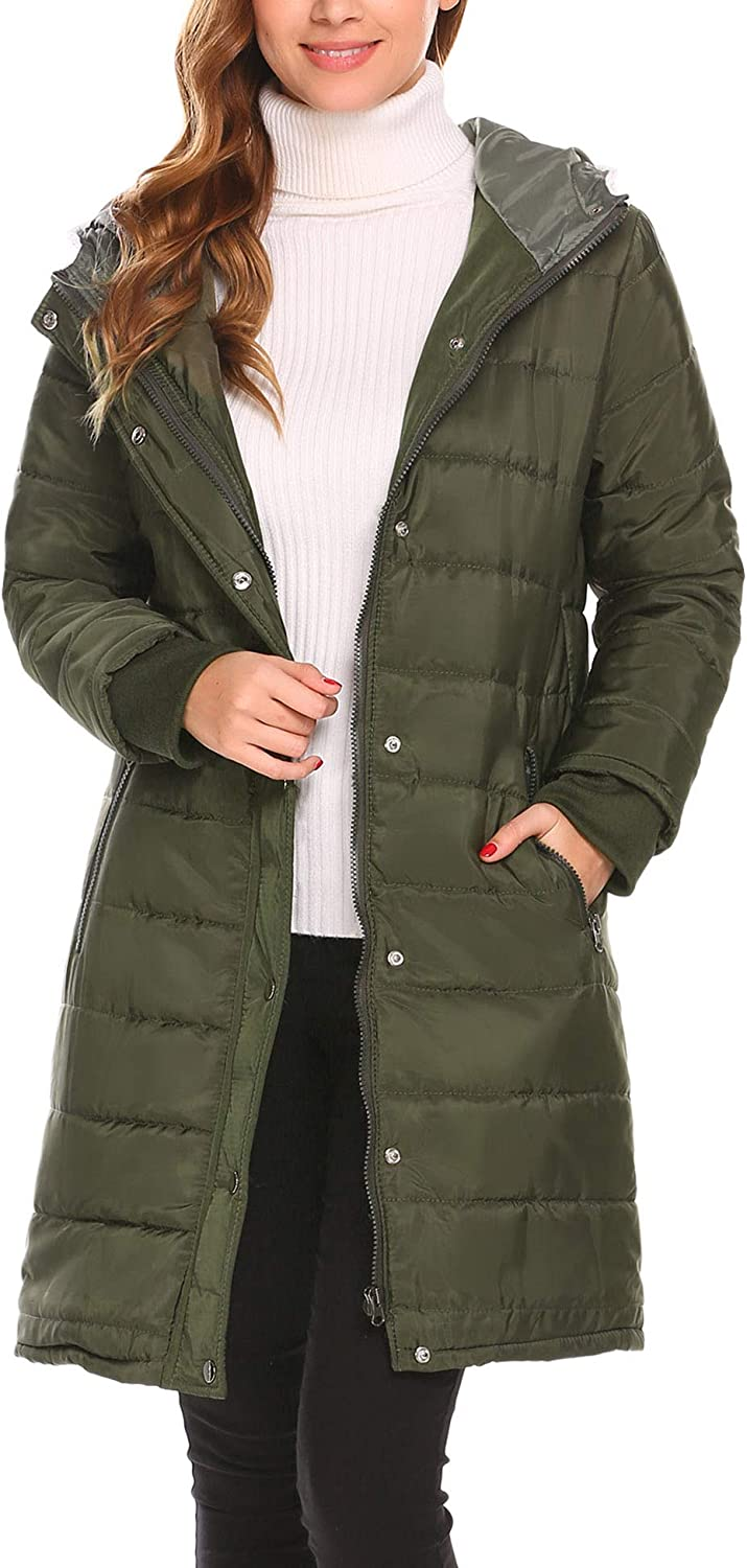 Misakia Women's Hooded Packable Down Quilted Jacket Lightweight Puffer Coat