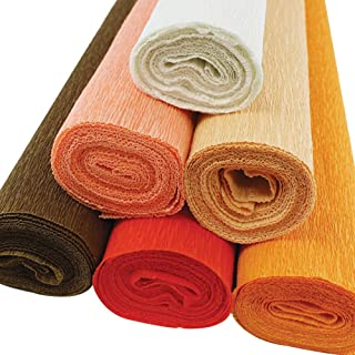 13.3 sqft Orange Pumpkin Heavy Italian 180 g Crepe Paper Roll