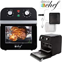 Deco Chef XL 12.7 QT Oil Free Air Fryer Multi-Function High Capacity Countertop Convection Oven, Toaster, Dehydrator, Rotisserie All-in-One Healthy Kitchen Oven Instructional Cook Book Included