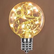 LEDimagine Fairy String Light Bulb Fairy Lights, LED Globe Fairy Light Pendant Bulb, Globe Fairy LED Light (Warm White, 5-...