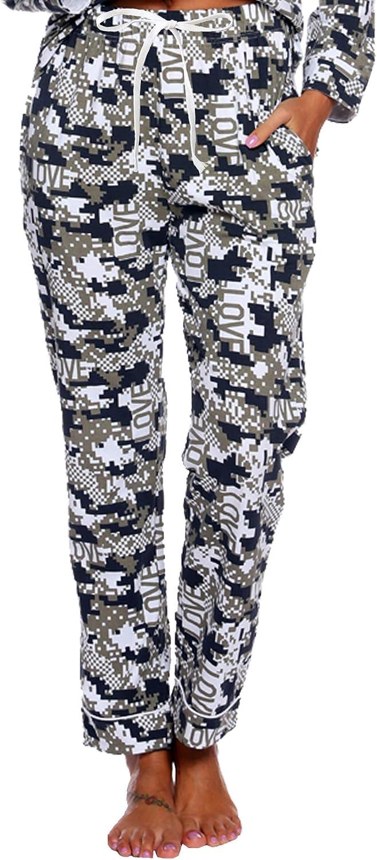 ENJOYNIGHT Women Lounge Pants Comfy Fit Casual Tie-Dye Cotton Pajama Bottom with Drawstring