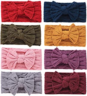 Baby Girls Headbands Bow Nylon Turban Headwrap Hair Accessories for Newborn Kids