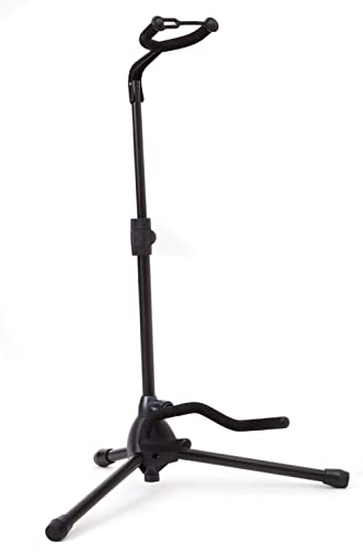 Universal Guitar Stand by Hola! Music - Fits Acoustic, Classical, Electric, Bass Guitars, Mandolins, Banjos, Ukuleles...