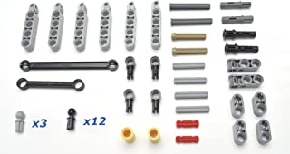 LEGO Technic 49 piece lot, specialty suspension control arms and misc pins, Mindstorms, NXT, EV3 by LEGO