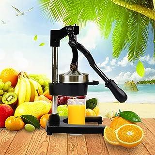 咀嚼榨汁機, 槓桿動作簡單有效榨汁(槓桿機制,洗碗機安全,簡單設計)手壓機手動水果榨汁機家用商用, black