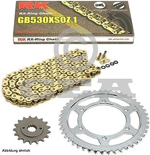 Kettensatz geeignet für VFR 800 02 14 Kette RK GB 530 XSO 110 offen GOLD 16/43