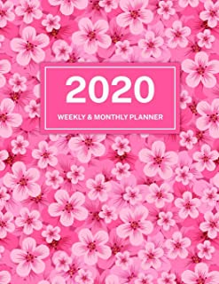 2020 Weekly & Monthly Planner: Jan 1, 2020 to Dec 31, 2020: Pink Cherry Blossom One Year Weekly Planner & Schedule Agenda ...
