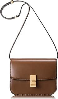 Women Crossbody Bag Genuine Leather Handbag Classic Box Bag Messager Purse