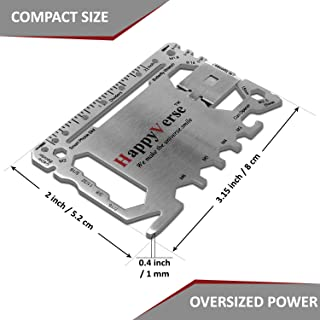 40 in 1 Multitool Credit Card Size Wallet/Pocket Tool with Removable Money Clip - Stainless Steel