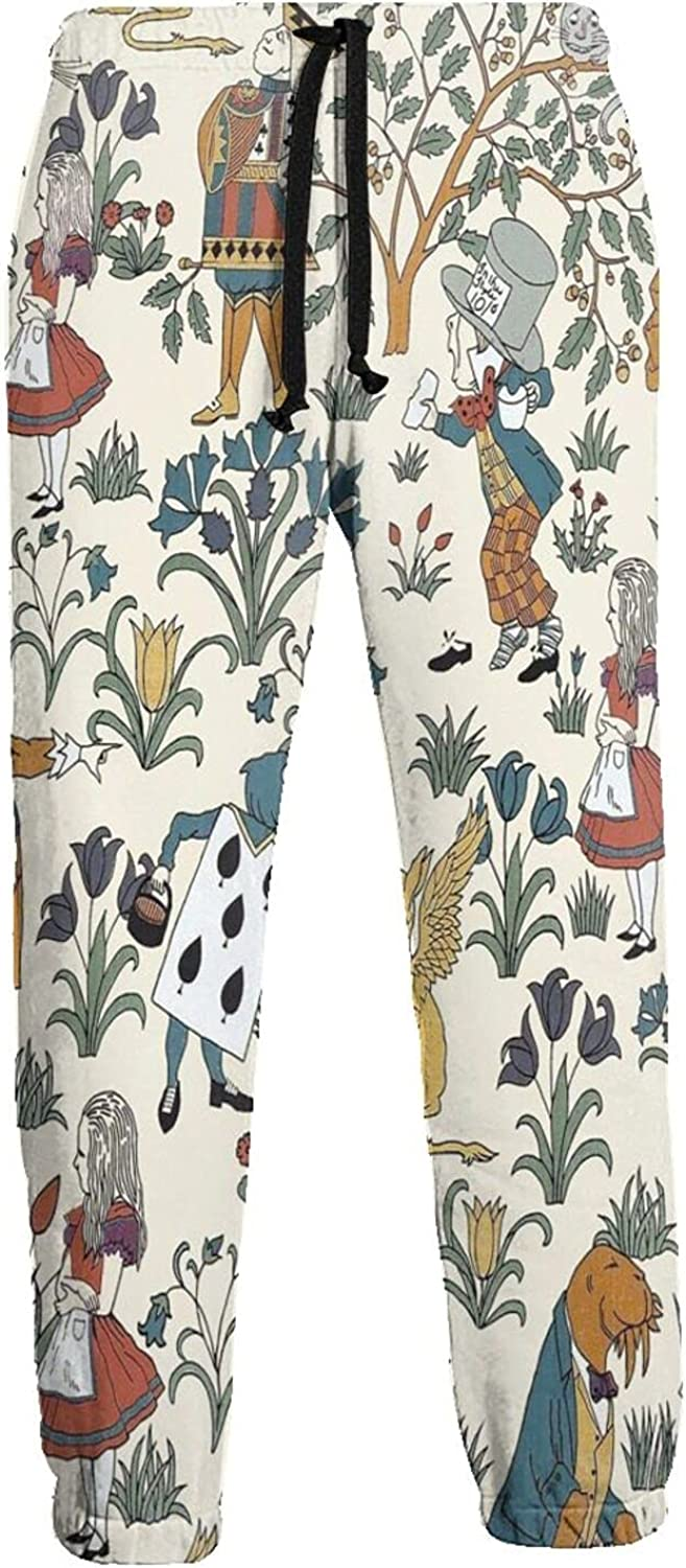 San Jose Mall Alice in Wonderland Sweatpants with Trousers Inexpensive Long Sports Pockets
