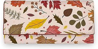 ShopMantra Multicolor Dried Leaf Pattern Artificial Leather Women Wallet |Clutch|Ladies Purse