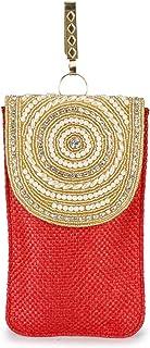 Suman Enterprises Clutch-Clutch, Seide, Sari, Handytasche, Taillenklammer, Geschenk für Frauen und Mädchen