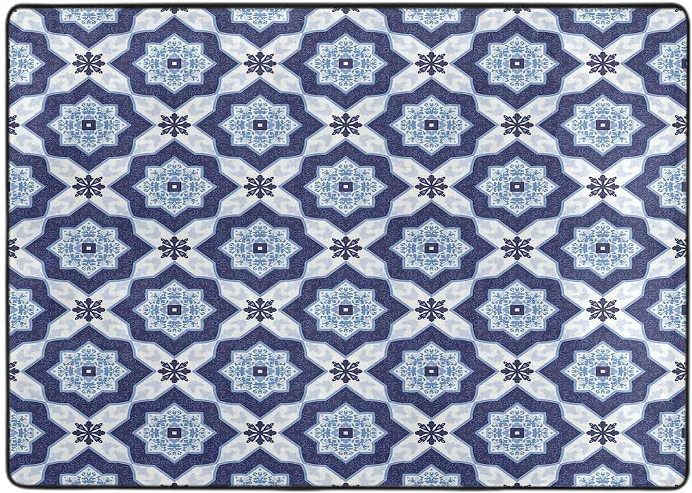 Carpet for Bedroom Philadelphia Mall Traditional Azulejo Vintage Price reduction Portuguese Tile