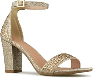 Premier Standard Women's Strappy Chunky Block High Heel - Formal, Wedding, Party Simple Classic Pump