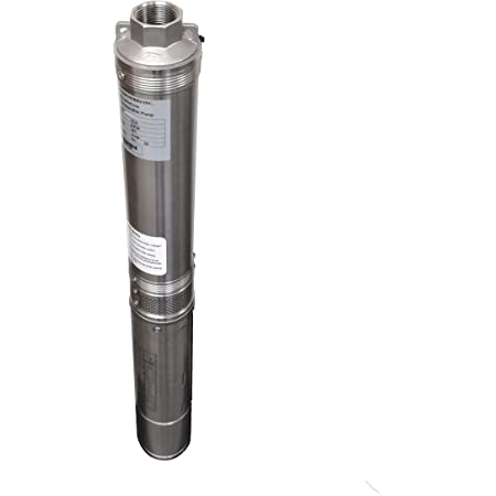 4 Deep Well Pump 33 GPM 1.5HP 110V Submersible Well Pump with Control Box 207 Head,100FT Power Cord,Stainless Steel