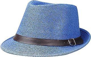 a66ff000c68 Men Kentucky Derby Hats Sun Cap Straw Panama Trilby Sun Fedora Hat