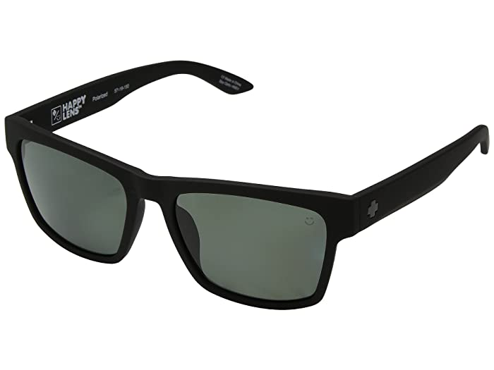 Spy Optic Haight 2 (Soft Matte Black/Happy Gray Green Polar) Athletic Performance Sport Sunglasses