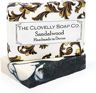 Clovelly Soap Co. Handgemachte Sandelholz, Bergamotte & Kohle Naturseife für alle Hauttypen 100g