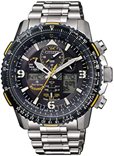 Citizen Eco-Drive Promaster Radio Controlled Men's World Timer Chronograph Watch JY8078-52L, silver