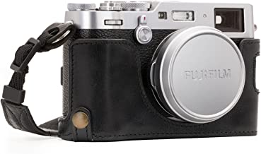 Megagear MG1281 Fujifilm X100F Ever Ready Genuine Leather Camera Half Case & Strap with Battery Access, Black