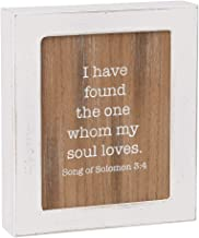 Collins Painting 'The One Whom My Soul Loves' Rustic White-Framed Box Sign