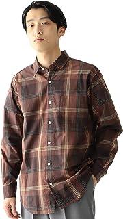 [ビームス] カジュアルシャツ ビッグ チェック ミニレギュラーカラー シャツ メンズ